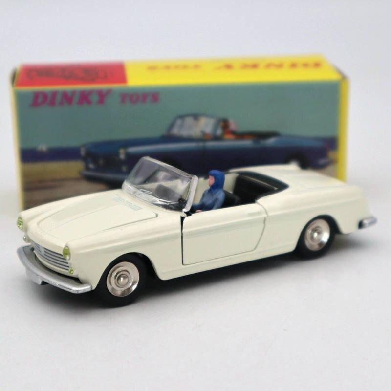 Coche de colección Atlas 1/43 Dinky toys 528, PEUGEOT 404, Cabriolet Pininfarina, modelos de fundición