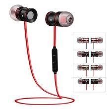 Stereo Bluetooth zestaw słuchawkowy dla aktywnych bezprzewodowe z mikrofonem z CSR 8635 V4.0 magnes metalowy zestaw słuchawkowy douszny
