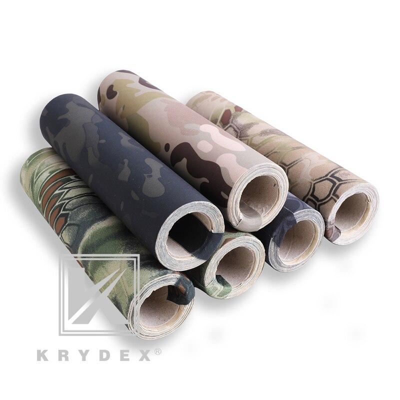 Krydex camuflagem tática adesivos hld elástico multicam camo tiro caça adesivos tático envoltório adesivo decalque diy rolo