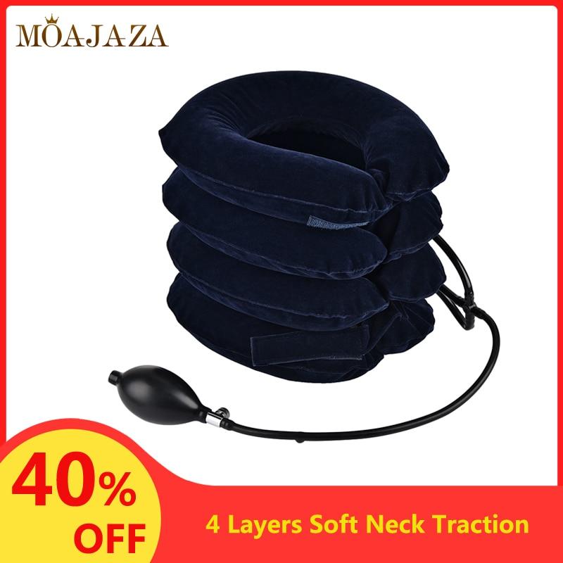 Dispositif gonflable de Traction cervicale de cou compresseur dair oreiller de soutien de cou collier de cou de voyage doux étirement orthèse soulagement de la douleur