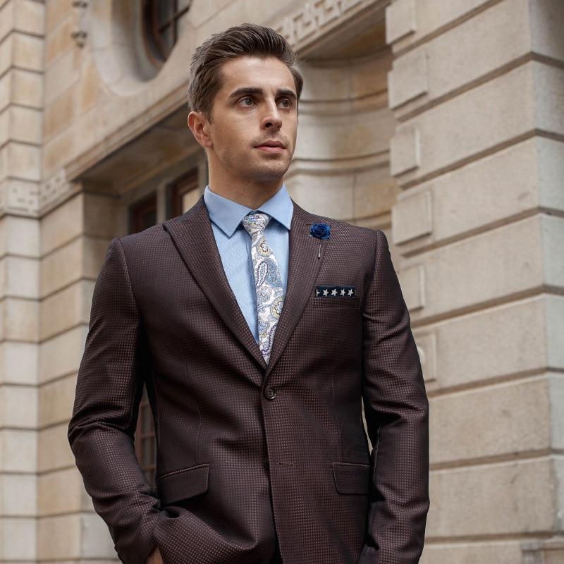 Trajes informales de dos piezas para hombre, trajes de boda para padrinos de boda 2020, trajes de vestir para hombre, ajuste Regular
