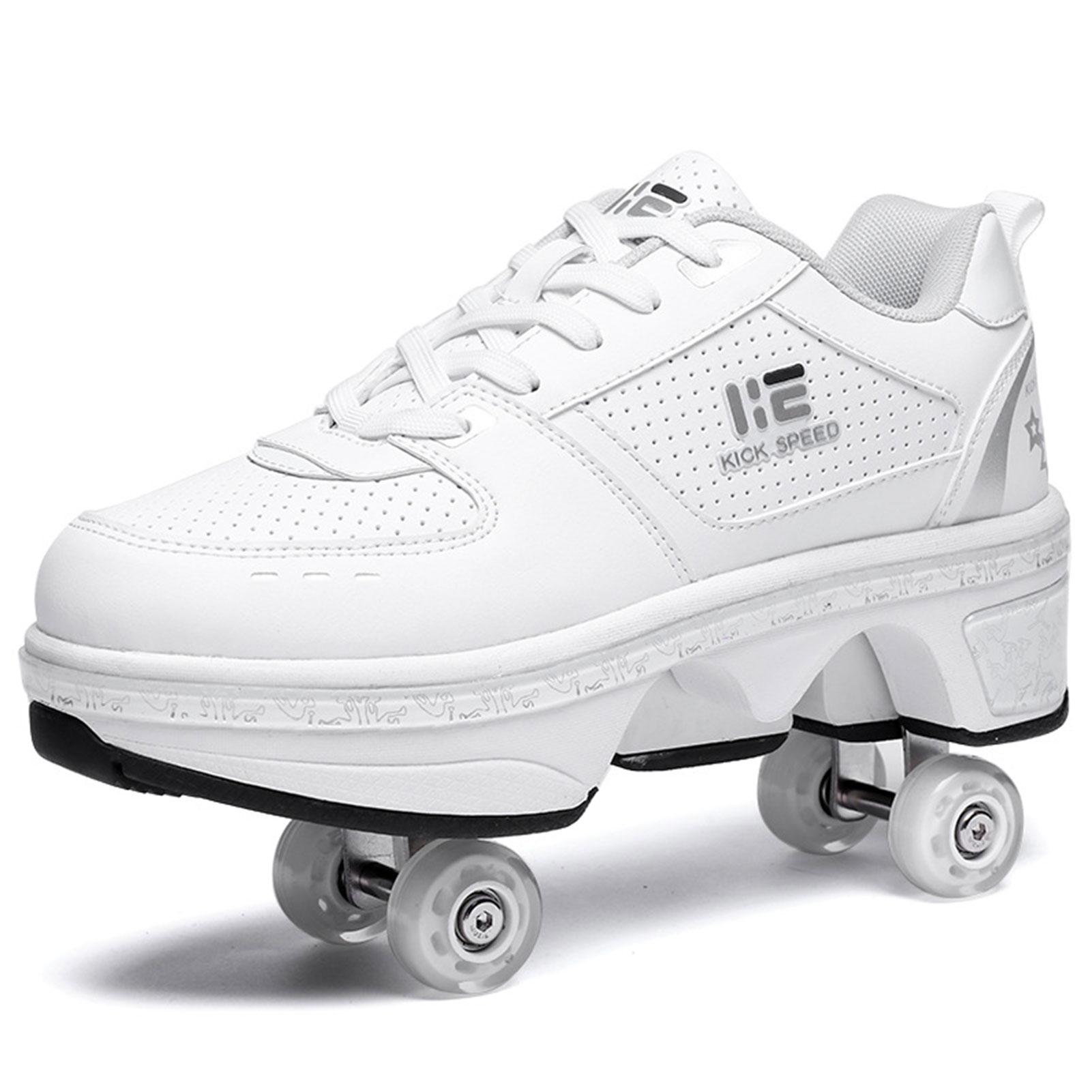Roller Shoes Sneakers Walk Skates Deform Wheel Skates For Adult Men Wmen Unisex Couple Childred Runa