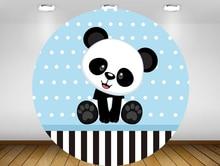 Rond panneau fond cercle toile de fond mignon panda bleu garçon bébé douche fête danniversaire décor bonbons table bannière élastique YY-235