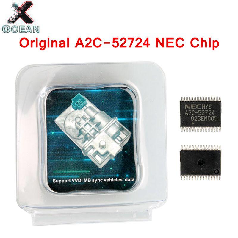 Para Mercedes Benz para A2C-45770 A2C 52724 NEC Chips emulador W204 207 212 ESL/ELV para Xhorse VVDI MB BGA herramienta Original