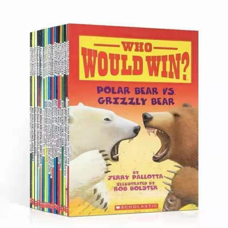 24 Books/Set English Children Book Guess Who Will Win The Animal Competition Baby Educational Picture Book To Gift For Kids