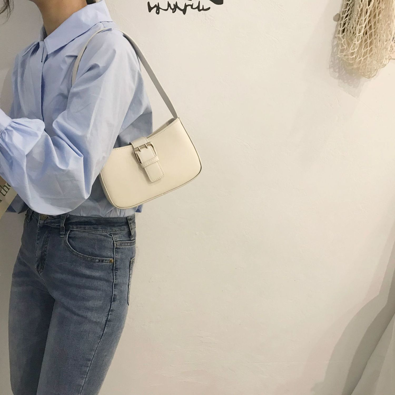 Summer Maca Dragon Purple Small Bag Female 2020 Chao Underarm Bag Joker Ins Single Shoulder Hand Bag #40