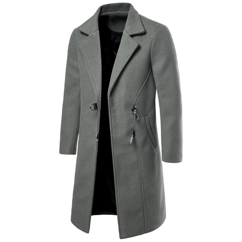 معطف رجالي طويل من الصوف, معطف رجالي طويل من الصوف ملابس رجالية معاطف شتوية وخريف موضة أعمال ذكية كاجوال جديد 2020 يمزج