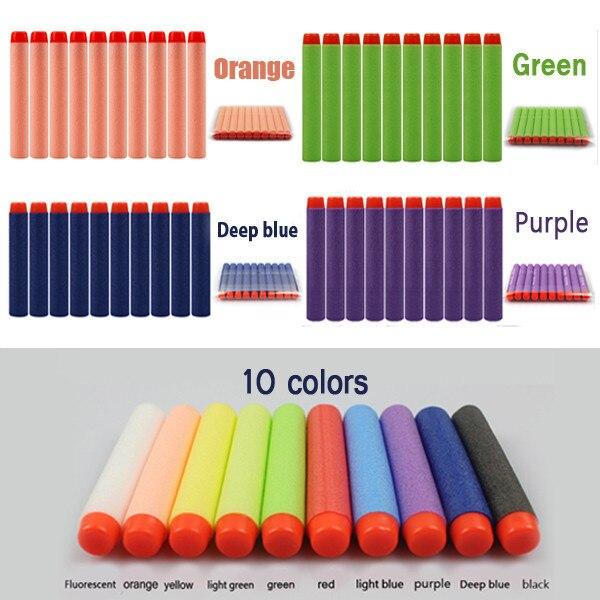 100 pçs bala macia de plástico militar otário dardo buraco oco cabeça para nerf crianças recarga balas arma brinquedo