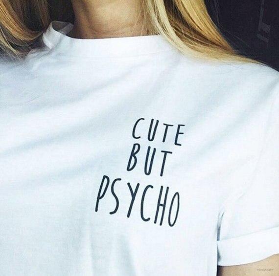 Tumblr – T-shirt à la mode pour femmes, décontracté et mignon, avec citation, Instagram, 2020