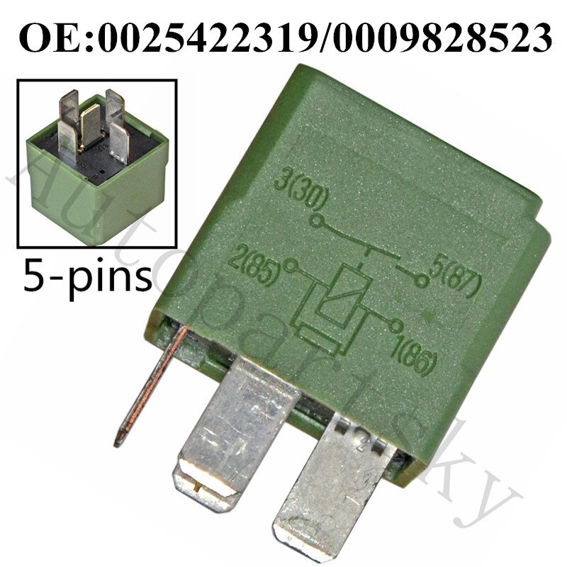 Mercedes Benz Genuine CL GL ML S Suspension Air Compressor Relay 5-Prong Green