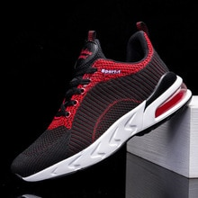 Flying woven Men Sneakers spring and autumn cushion shock absorption sports shoes casual shoes knitt