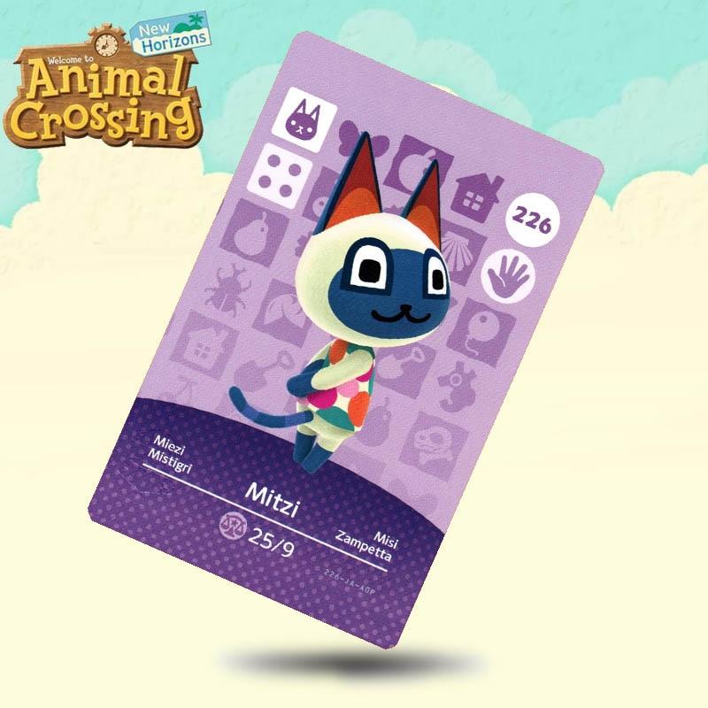 226 Mitzi Animal Tarjeta de cruce Amiibo tarjetas de trabajo para Switch NS juegos 3DS