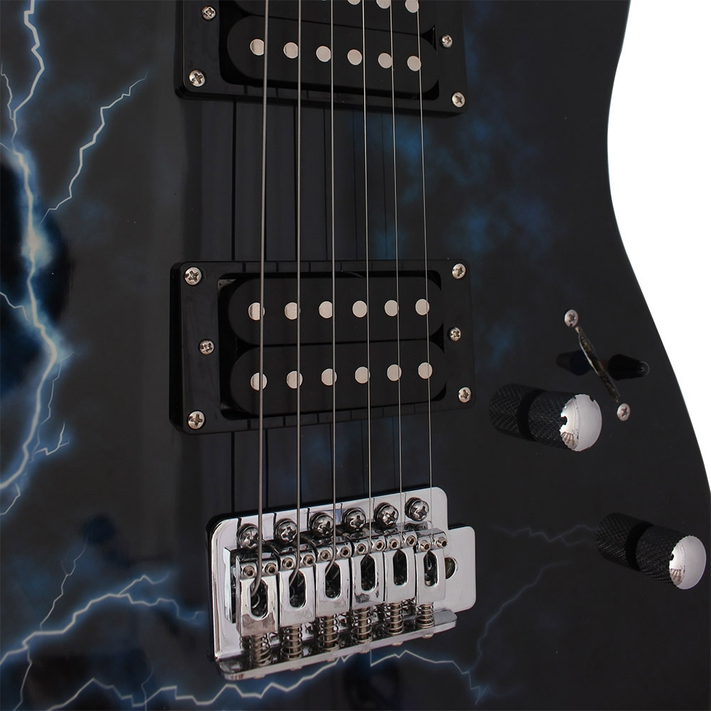 6 Strings Electric Guitar 39 Inch 21 Frets Maple Lightning Electric Guitar With Bag Speaker Necessary Guitar Parts & Accessories enlarge