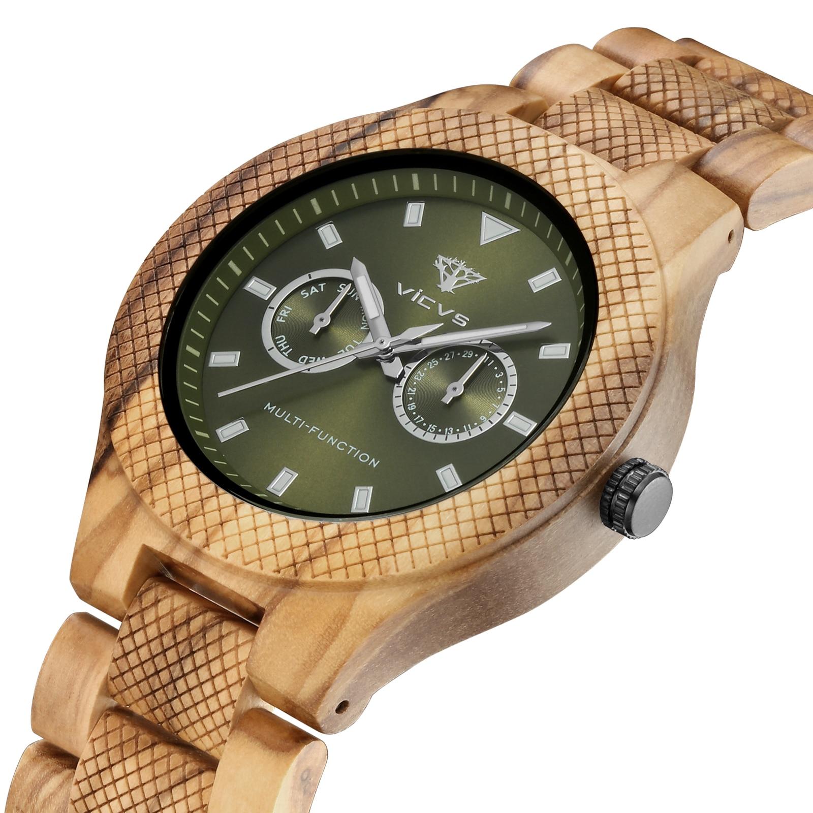Мужские светящиеся деревянные часы с кварцевым механизмом на заказ, наручные часы, роскошные деревянные часы