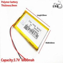 Gute Qulity 3,7 V, 6000mAH 906090 Polymer lithium-ion/Li-Ion batterie für tablet pc BANK, GPS, mp3, mp4