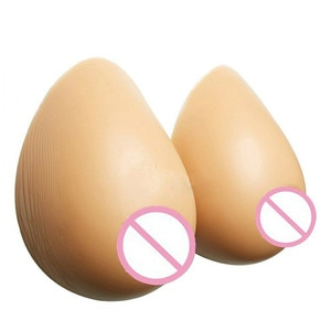 hot sale Newly Fake Breast 1600g/Pair Fake Boobs Silicone Breast Forms Artificial For Transsexual  Bra Pads Cosplay Gift
