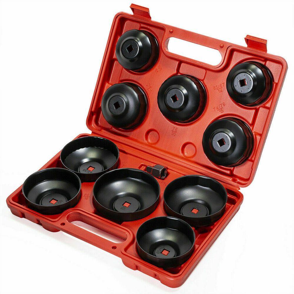 15 Uds., tapa de filtro de aceite de 65mm, llave métrica, juego de herramientas, Kit de herramientas de reparación para Toyota VW, Mercedes, Audi, Honda, Ford, Nissan, herramientas