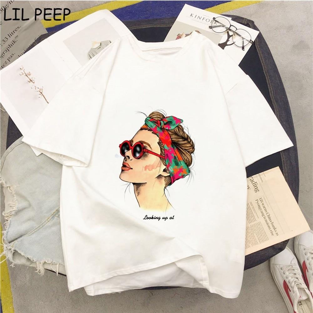 Sommer Punk T-shirt Auf der suche in Pop Mädchen Kawaii T-shirt Femme Punk Frauen T-shirt Komfortable T Shirt 90s Hüfte hop Tops Punk Tees