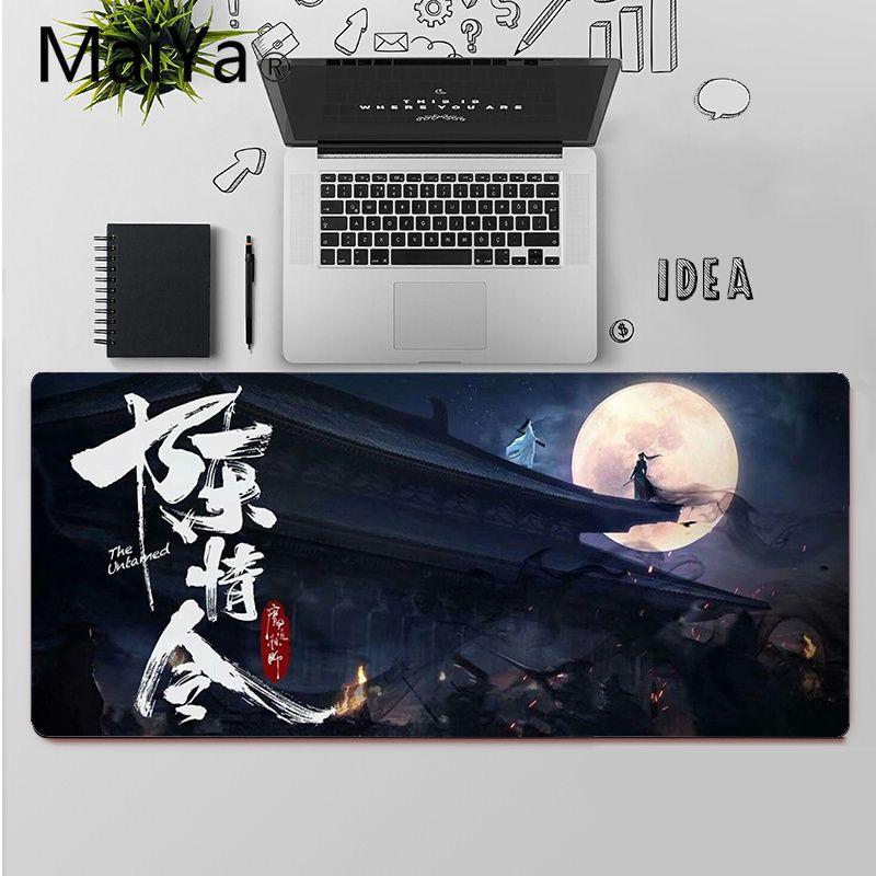 Maiya The Untamed Xiaozhan Wang YiBo gamer play mats Mousepad Large Mouse Pad Keyboards Mat  - buy with discount