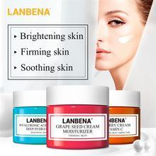 LANBENA crème visage VC blanchiment acide hyaluronique hydratant pépins de raisin Anti-âge raffermissant hydratation sérum visage soins de la peau