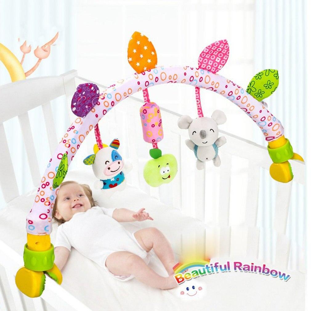 Детские музыкальные мобильные игрушки для кровати/кроватки/детской коляски, плюшевые детские игрушки для детей 0-12 месяцев, обучающие игруш...