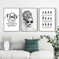 nail polish quotes black white wall art canvas minimalist nordic posters prints painting wall pictures living room home decor