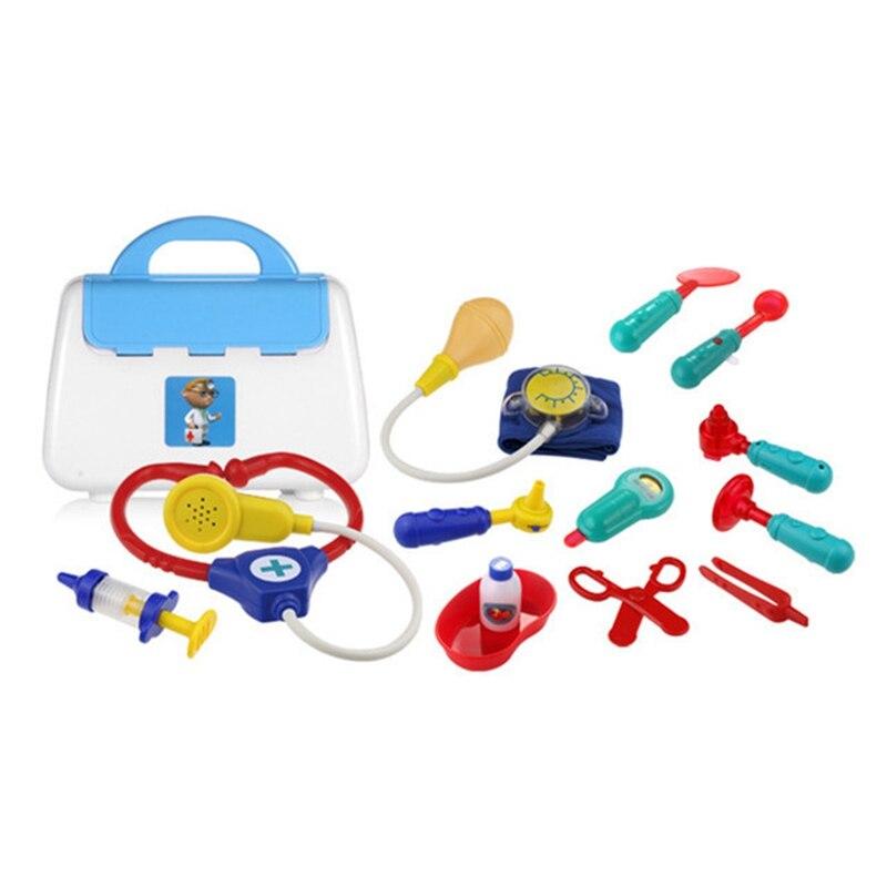 Fbil-play House niños Doctor juguete Set escenario simulación medicina caja juguetes médicos 13 piezas