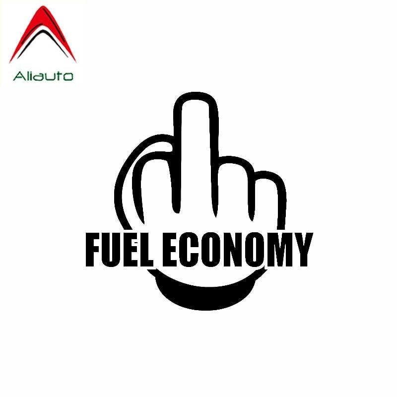 Etiqueta engomada del coche del signo de la personalidad de Aliauto del dedo medio ahorro de combustible para automóviles y motocicletas accesorios etiqueta del vinilo, 13cm * 12cm