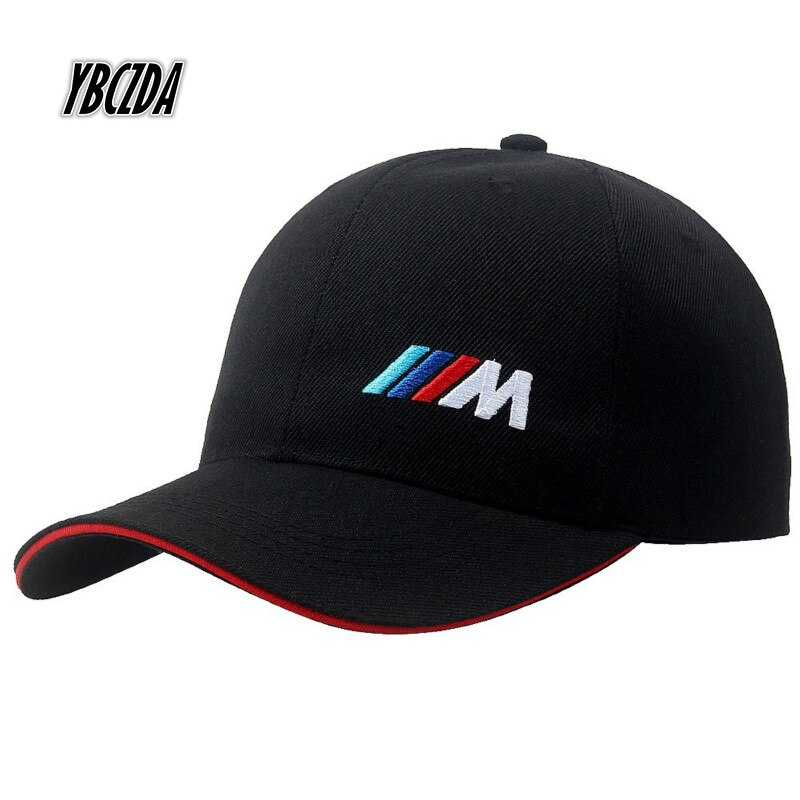 De algodón de moda de hombres coche logotipo M rendimiento gorra de béisbol de moda de algodón gorro de hip hop de ocio al aire libre-Encuentro de gorros para protección solar