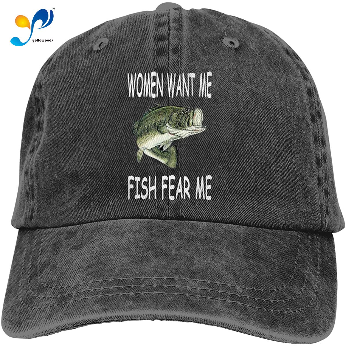 Women Want Me Fish Fear Me Men's Baseball Hats Trucker Dicer