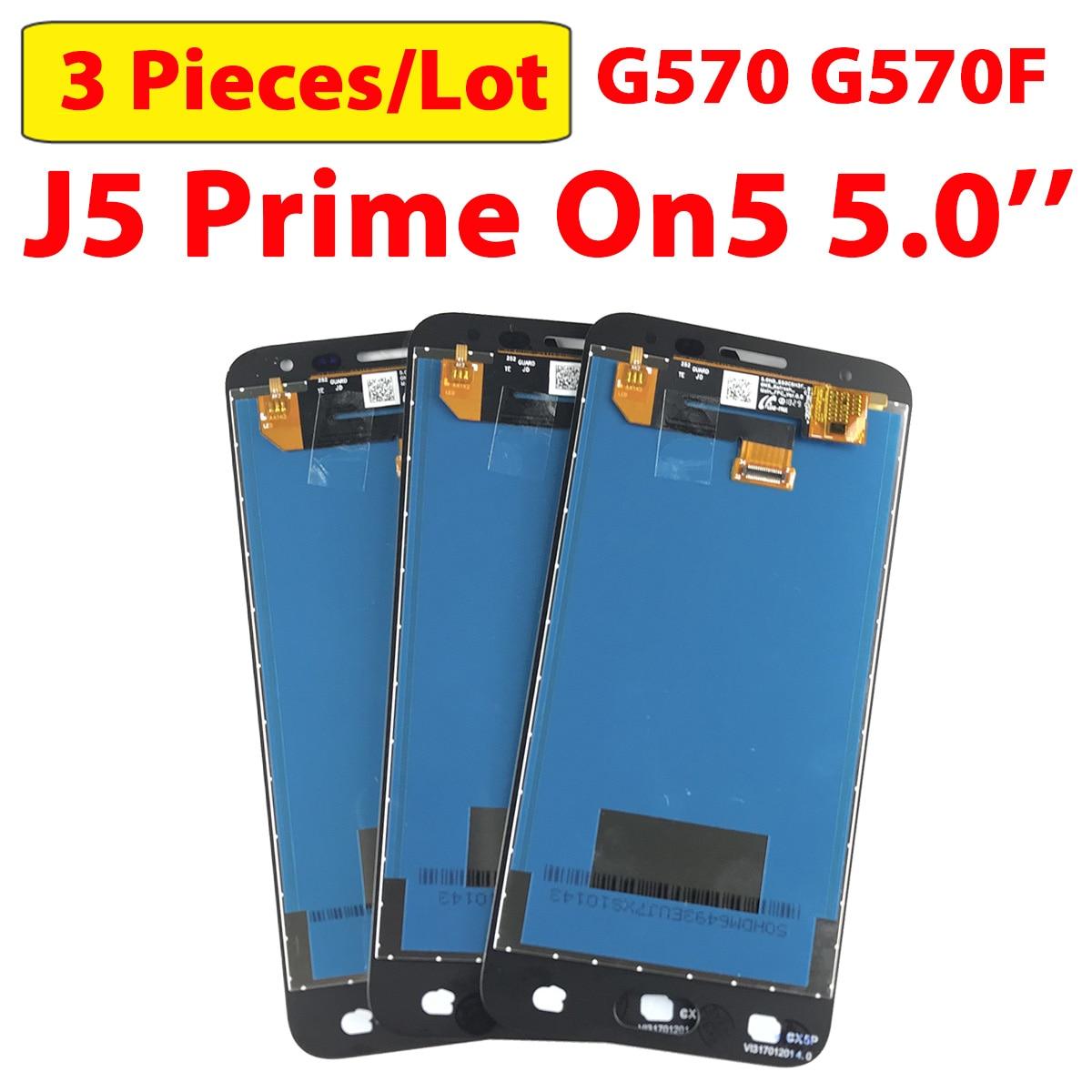 3 unids/lote 5,0 LCD Original de prueba para Samsung Galaxy J5 Prime Display G570 pantalla táctil de montaje On5 G570 G570Y G570F G571