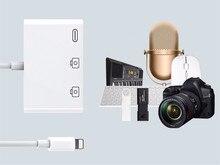 Nouvelle mise à jour 3.0 double USB OTG adaptateur 500mAh avec fichier de Charge U disque caméra lecteur de carte IOS13 pour Iphone 6 7 8 X pro11