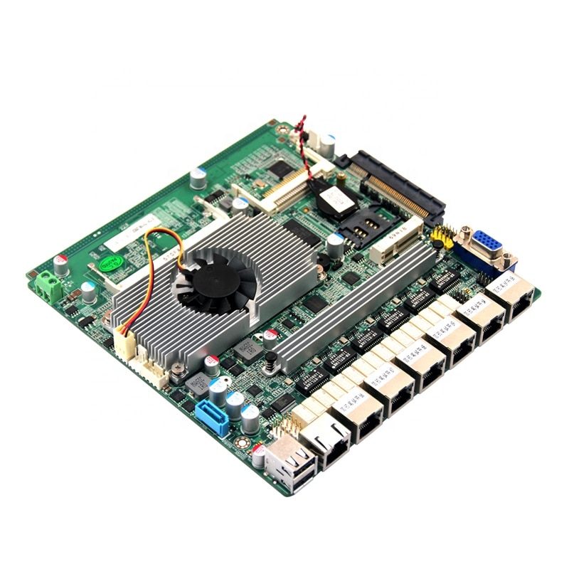 TOP19B6L 6 lan Baytrail x86 sata DDR3 ram كمبيوتر صغير صناعي lvds فتحة pfsense spf ميناء اللوحة الرئيسية للجدار الناري