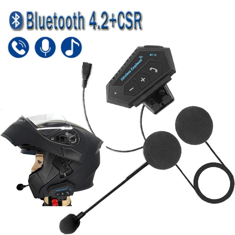 T2 موتو بلوتوث اللاسلكية إلغاء الضوضاء سماعة خوذة الأيدي الحرة BT V4.2 سماعة يدوي مع Microphonefor دراجة نارية