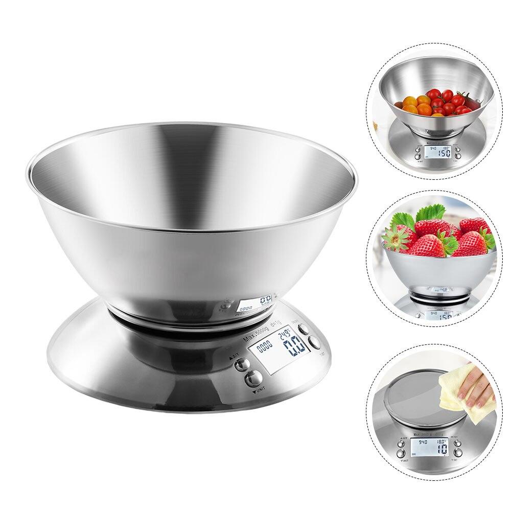 1 مجموعة الفولاذ المقاوم للصدأ مقياس المطبخ الإلكترونية ميزان المطبخ المنزلية (ألوان متنوعة)