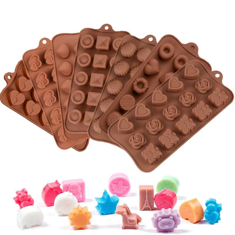Molde para dulces o pasteles de silicona, moldes para hornear y hornear pasteles, accesorios para repostería, Diy y herramientas