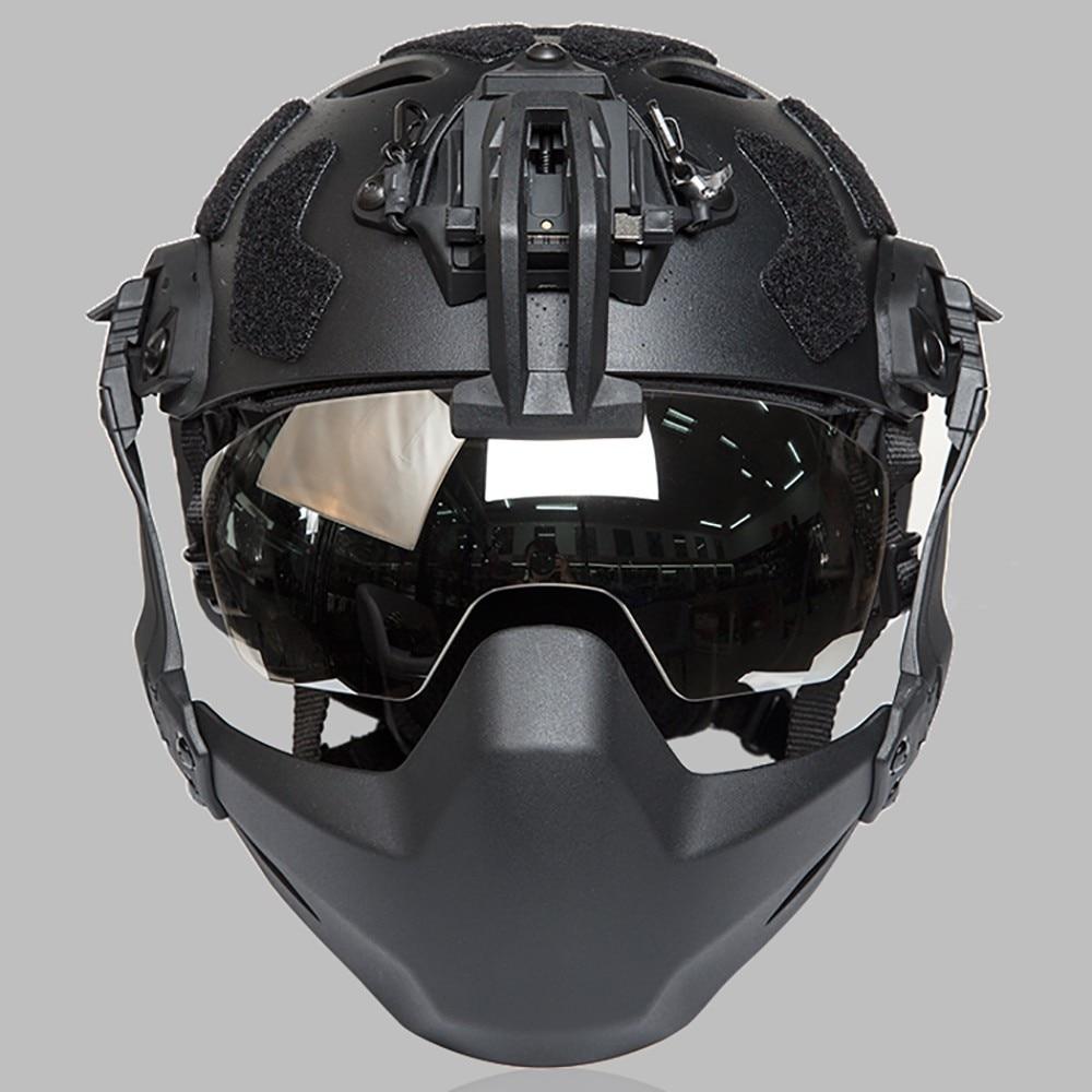 FMA Tactical Helmet Goggles Anti Fog Airsoft WarGame Goggles For Helmet 3mm Thick Lenses TB1361 Helmet Accessories