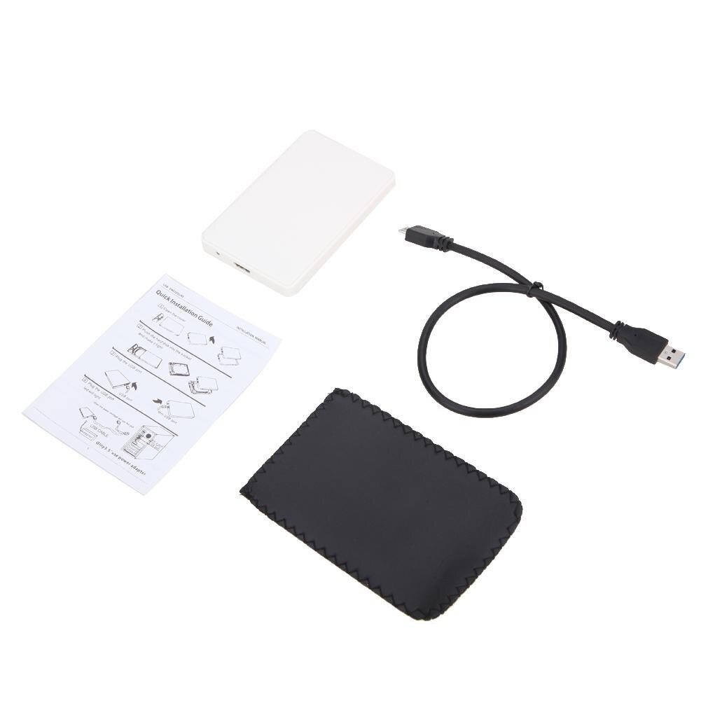 "2.5"" USB 3.0 SATA Hd Box HDD Hard Drive External Enclosure Case Portable Hard Disk Case With USB Cable"
