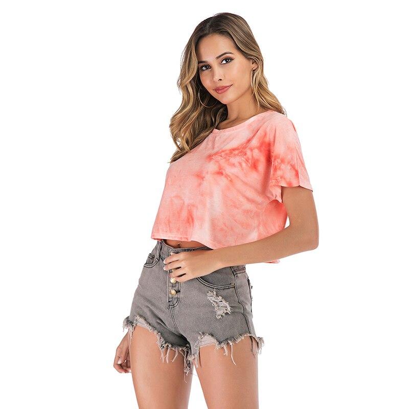 Womens tops Fashion womens short-sleeved T-shirt ins loose wild women