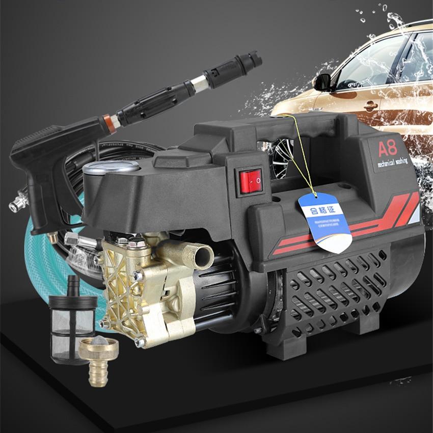 A8 Car Wash Machine Household High Pressure Car Washer Foam Water Gun Car Wash Artifact Portable Washer Pump 220V~50HZ 1800W