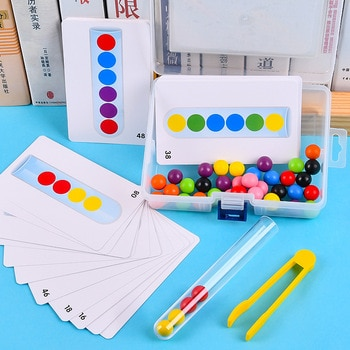Pince perles tube à essai jouet enfants logique concentration fine moteur entraînement jeu Montessori aides pédagogiques jouet éducatif pour les enfants