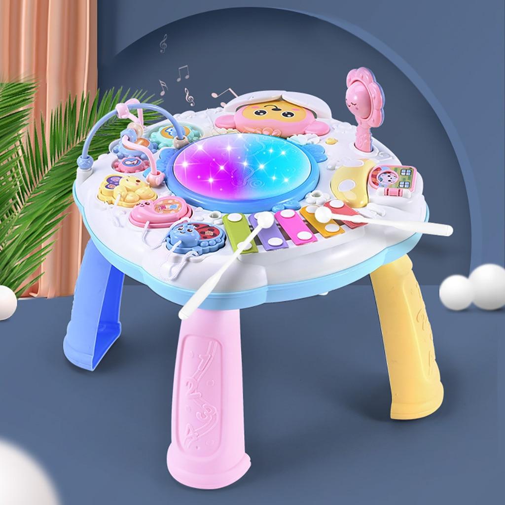 Juguetes para bebés, instrumentos musicales para niños, volante para bebés, juguetes educativos musicales para bebés, mesa de juegos, juguetes educativos en preescolar