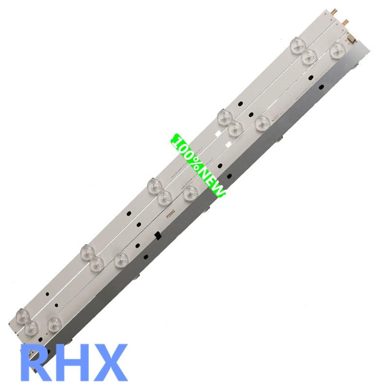 ل 49 بوصة 50 بوصة LED هيسنس تشانغهونغ Konka TCL 100% جديد الألومنيوم لوحة شريط مصابيح 10LED 3 فولت 5LED + 5LED = 93.5 سنتيمتر