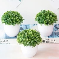 1pc artificial plants bonsai small tree pot plants fake flowers potted ornaments for home decoration hotel garden decor with pot