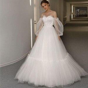 Bohémien Wedding Dress 2021 Strapless Plus Size Vestidos De Noiva Princess Lace Up suknia ślubna Beach Simple Robes de mariée