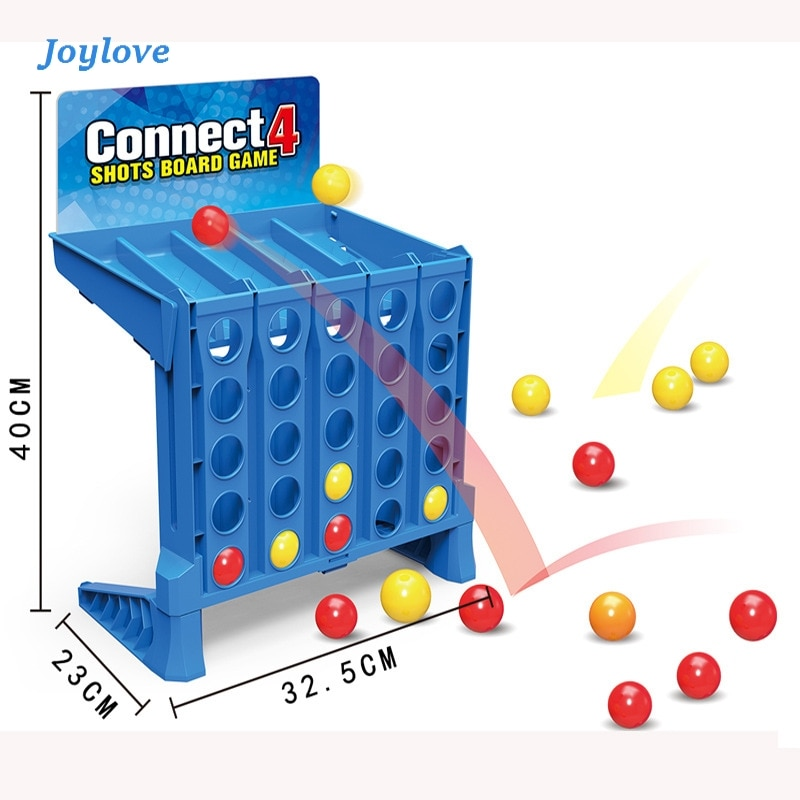 JOYLOVE Bouncing Linking Shots - Basic Connect 4 Shots Game  Team Building Fun  Games For  Good Toy For Pre-school Children shots