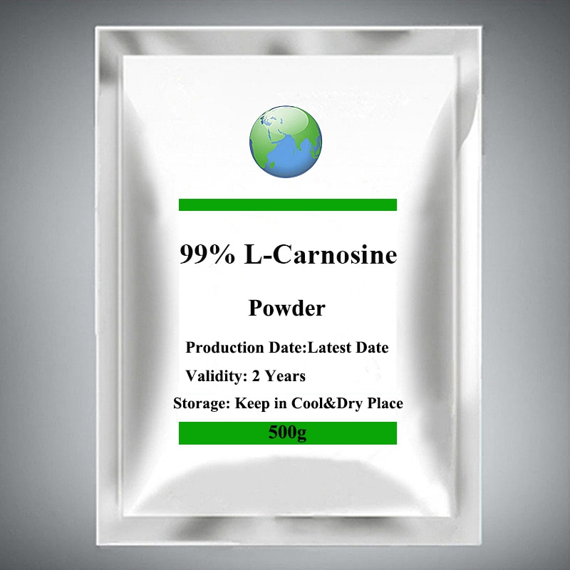 99% L-Carnosine Powder Prolongs Cell Life,Skin Care and Anti-aging 500-1000g