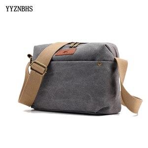 Simple Messenger Bags Women Canvas Shoulder Bag Women Cross Body Bag Vintage Crossbody Purse Ladies Brand Canvas Bags Gray bolsa