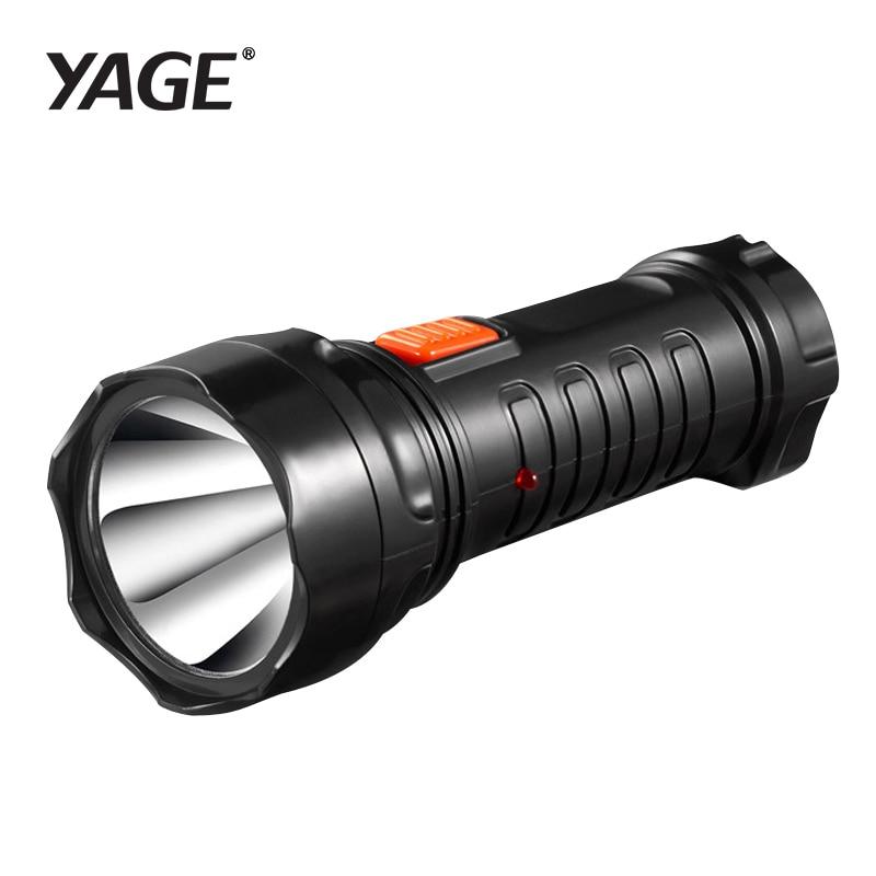 YAGE-3738 Led Flashlight Rechargable Torch Built-in Battery Light 2-mode Lanterna Linterna Lampe Torche EU/USA/UK Plug