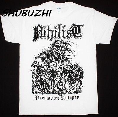men t shirt fashion brand tee shirt NIHILIST PREMATURE AUTOPSY T-SHIRT summer cotton 100% o-neck tee shirts short sleeve summer